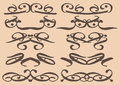 Vintage decorative design elements vector with decor frames etc Royalty Free Stock Photography