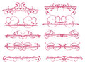 Vintage decorative design elements vector illustration Stock Images
