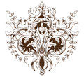Vintage decorative element engraving with Baroque ornament pattern Royalty Free Stock Photo