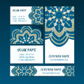Vintage decorative elements. Business Cards and banners.
