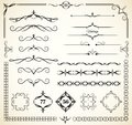 Vintage decorative elements set of for page decoration Royalty Free Stock Photos