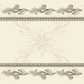 Vintage decorative frame Stock Image