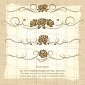 Vintage decorative ornaments with roses