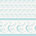 Vintage decorative scrollwork pattern and border Stock Photos
