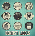 Vintage Dentist Labels and Icons Royalty Free Stock Images