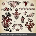 Vintage design elements Stock Photo