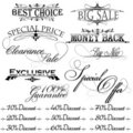 Vintage design elements for sale text Royalty Free Stock Images