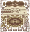 Vintage design elements vector illustration for your creative Royalty Free Stock Images
