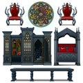Vintage design furniture of the medieval house