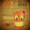 Vintage design hawaii menu Royalty Free Stock Photo