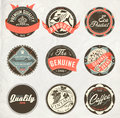Vintage design retro labels Royalty Free Stock Image