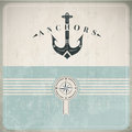 Vintage design template anchor eps compatibility required Royalty Free Stock Photography