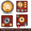 Vintage device icons Royalty Free Stock Image