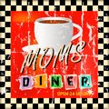 Vintage diner sign with coffe cup style Stock Photography