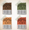 Vintage discount tags design illustration of Royalty Free Stock Image