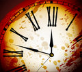 Vintage Distressed Clock Surface Macro Royalty Free Stock Photography
