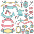 Vintage doodles Royalty Free Stock Photo