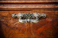 Vintage door handle in style on a old wooden Stock Images