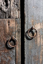 Vintage door handles at antigua guatemala wooden gates Royalty Free Stock Images