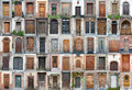 Vintage doors and gates set 1 Royalty Free Stock Photo