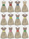 Vintage dress background for design Stock Image