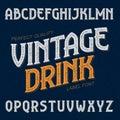 Vintage drink label font