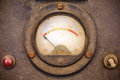 Vintage dusty volt meter in a metal casing Royalty Free Stock Photo