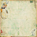 Vintage Easter background with rabbit and egg Royalty Free Stock Photo