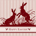 Vintage easter background (vector) Royalty Free Stock Images