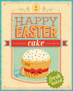 Vintage easter card vector illustration Royalty Free Stock Images
