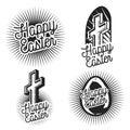 Vintage easter emblems