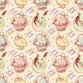 Vintage Easter seamless background Stock Image