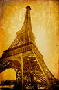 Vintage  eiffel card Stock Photography