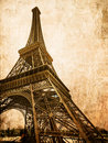 Vintage  eiffel card Royalty Free Stock Images