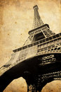 Vintage Eiffel tower Stock Images