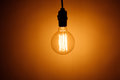 Vintage electric bulb lamp Royalty Free Stock Photo