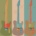 Vintage electric guitars Royalty Free Stock Photo