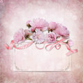 Vintage elegance background with card and rose space for text Royalty Free Stock Photography