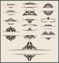 Vintage element and border vector set Stock Photos
