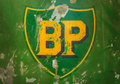 Vintage emblem of the bp oil company drempt november on november in drempt netherlands british petroleum is a Royalty Free Stock Photo