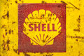 Vintage emblem of the shell oil company drempt november on november in drempt netherlands is a subsidiary Royalty Free Stock Photos
