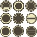 Vintage emblems vector set of nine various Royalty Free Stock Images