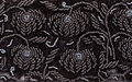 Vintage embroidery by black beads on black velvet Royalty Free Stock Photo