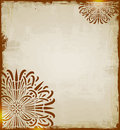 Vintage ethnic background with circle floral ornament Stock Photo