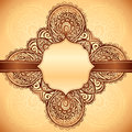 Vintage ethnic  background with ribbon Stock Photos