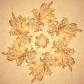 Vintage ethnic vector ornament mandala background this is file of eps format Stock Image