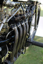 Vintage european motorcycle engine Royalty Free Stock Photo