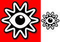 Vintage eyes eye clipart icon sign symbol look with a color Stock Image