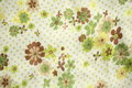 Vintage fabric detail chinese blossom pattern on Stock Image