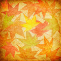 Vintage Fall Leaves Royalty Free Stock Image